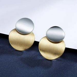 Mix Gold and Silver Drop Earring